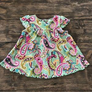 Vera Bradley Baby Paisley Cotton Floral Dress 0-3